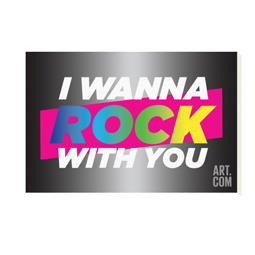 I Wanna Rock With You Canvas Print