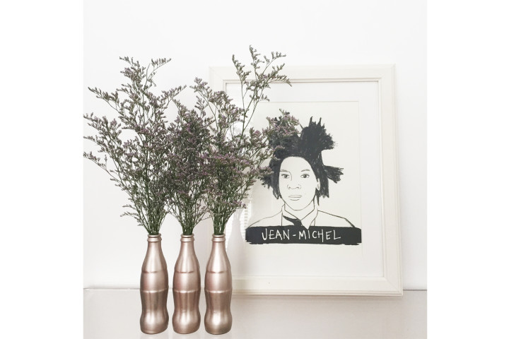 DIY: Rad Rose Gold Coke Bottle Vase