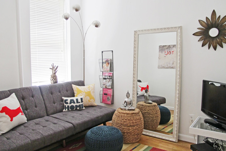 Before/After: From Traditional Living Room To Fresh Boho Modern (And It's Very Affordable)