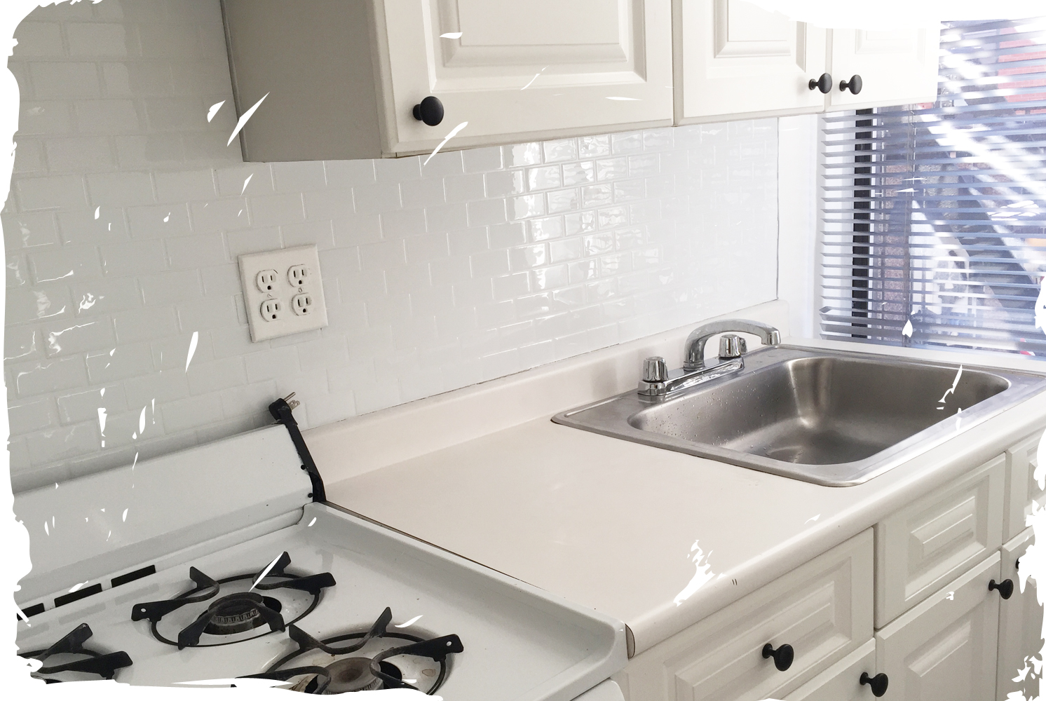 Beforeafter these subway smart tiles are peel stick and will beforeafter these subway smart tiles are peel stick and will elevate your rental kitchen by a million dailygadgetfo Gallery