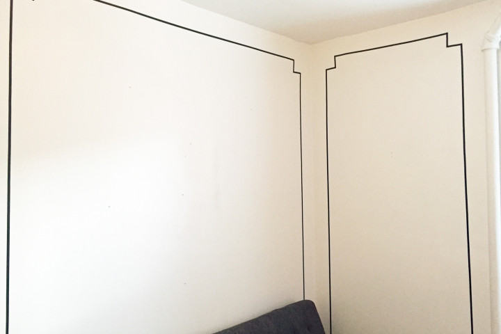 Before/After: DIY This Moulding-Inspired Wall Trim For Under Five Dollars (And It's Not Washi Tape)
