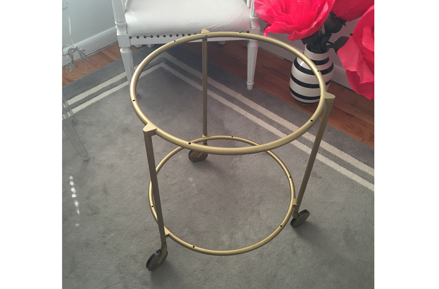 Best Ikea Hack: The Strind Side Table As A Marble Brass Marvel