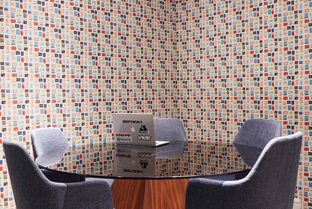 How We Used Peel And Stick Wallpaper To Bring FuckJerry's Office To Life