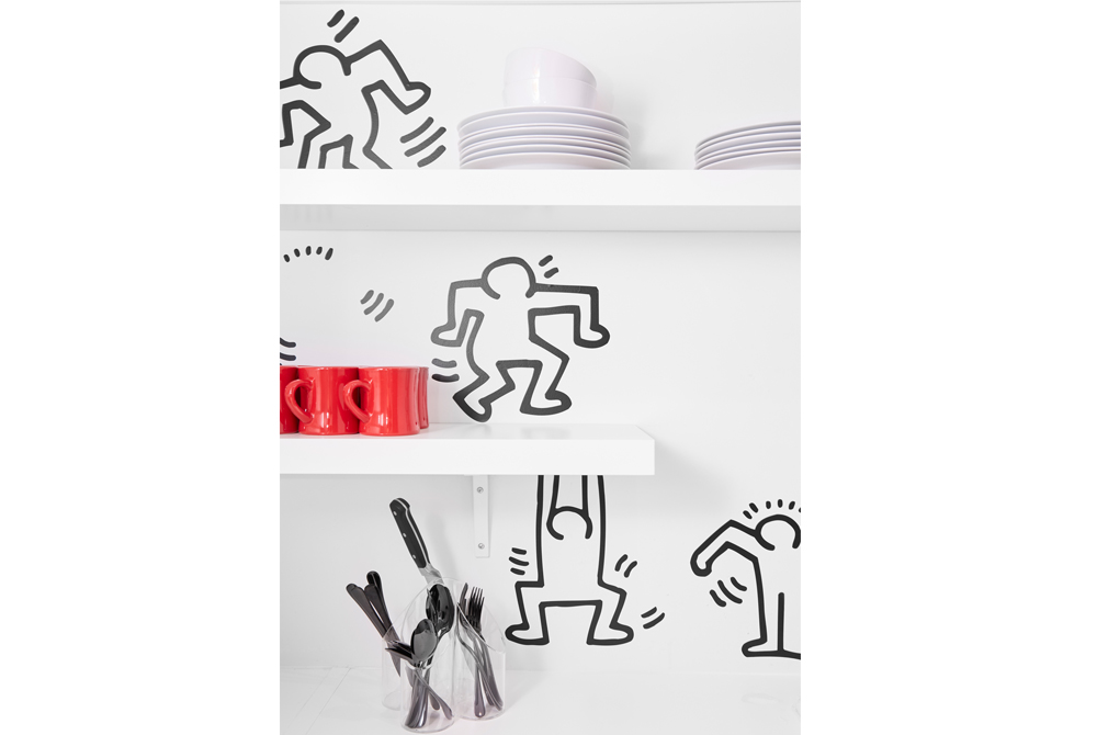We Designed A Keith Haring Kitchen And Here's How We Did It